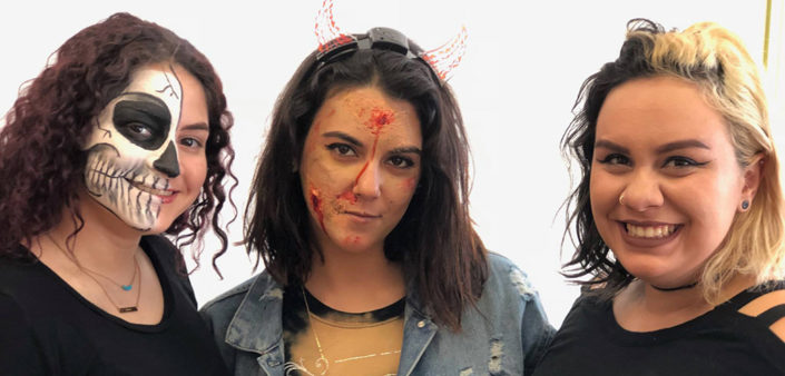 kba students halloween makeup
